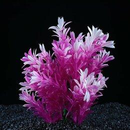 Растения для аквариумов и террариумов - Растение искусственное аквариумное, 15 х 10 х 20 см (комплект из 2 шт.), 0
