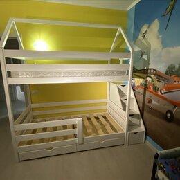 Кроватки - Кроватка детская из массива деревянная, 0