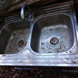 Кухонные мойки - Мойка из нержавейки  двойная, 0