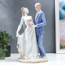 Новогодние фигурки и сувениры - Сувенир керамика 'Жених и невеста - первый танец' 35 см, 0