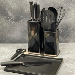 Аксессуары для готовки - Подставка для ножей, 22 см, универсальная, сталь, kitchen tools, 0