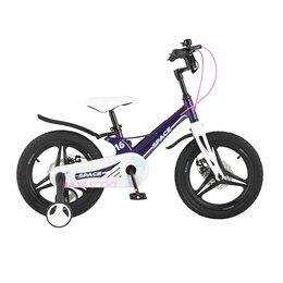 """Трехколесные велосипеды - Детский велосипед Maxiscoo Space 16"""" Фиолетовый, 0"""