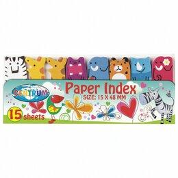 Средства для интимной гигиены - Закладки клейкие CENTRUM «Зверушки» бумажные, 48х15 мм, 8 цветов х 15 листов, 88, 0
