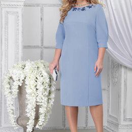 Платья - Платье 7309 NINELE голубое Модель: 7309, 0