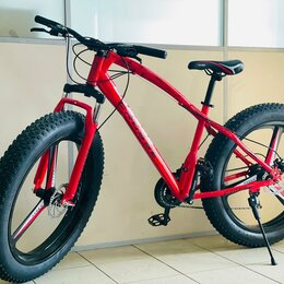 Велосипеды - Велосипед фэтбайк на литых колёсах (шоурум), 0