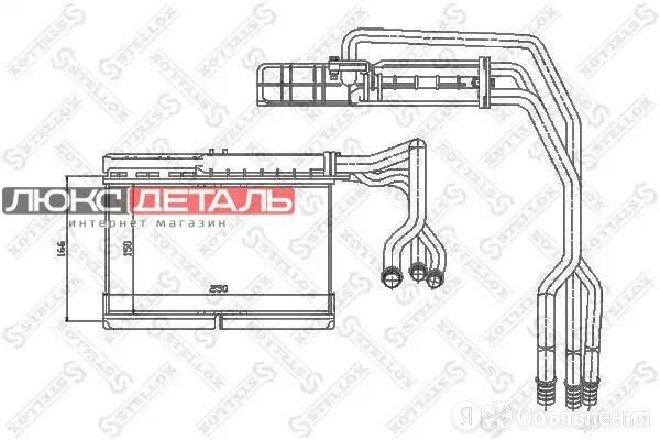 STELLOX 1035073SX 10-35073-SX_радиатор печки\ BMW E34 1.8-4.0/2.4TD/2.5TD 88-97  по цене 2539₽ - Отопление и кондиционирование , фото 0