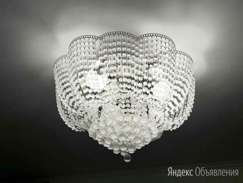 Люстра лотос гусь хрустальный по цене 4900₽ - Люстры и потолочные светильники, фото 0