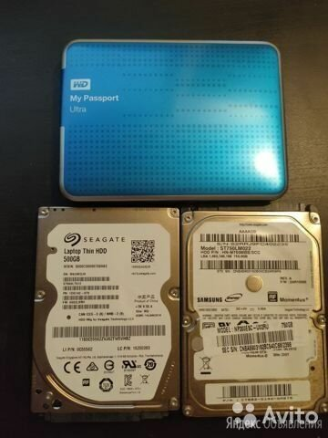 WD My Passport - 1TB по цене 1500₽ - Жёсткие диски и SSD, фото 0