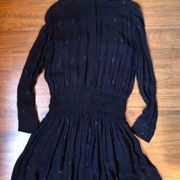 Платья - Платье Allsaints All Saints синее вышитое полупрозрачное размер 36, 0