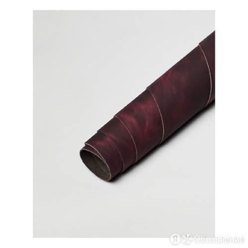 Натуральная кожа Crazy Neo «Темная слива» по цене 27₽ - Ткани, фото 0