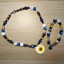 Комплекты - Жемарт. бусы и браслет из натуральных камней, 0