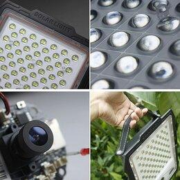 Уличное освещение - Светодиодный прожектор с видеокамерой! на солнечных батареях, 0