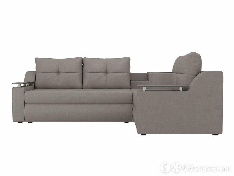 Угловой диван Тесей Рогожка Бежевый правый угол по цене 37390₽ - Диваны и кушетки, фото 0