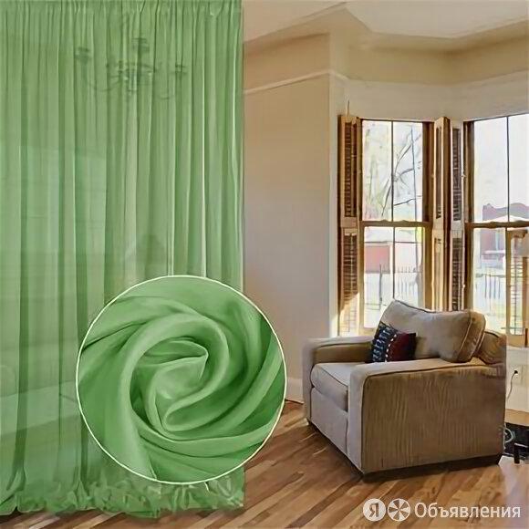 Тюль вуаль матовый (зеленый) по цене 1200₽ - Шторы, фото 0