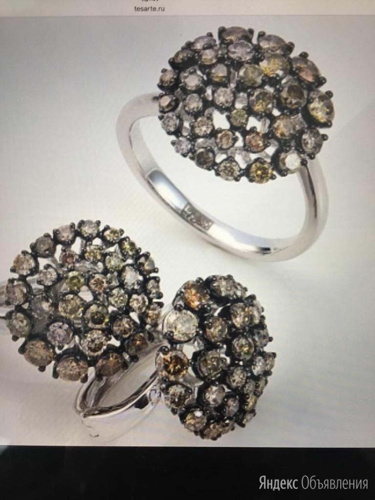 Комплект серьги и кольцо, золото 585, бриллианты по цене 220000₽ - Комплекты, фото 0