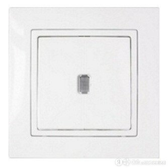 Bylectrica УЮТ выключатель СУ 1 кл. бел. (инд., пластик) C1 10-866 по цене 183₽ - Прочая техника, фото 0
