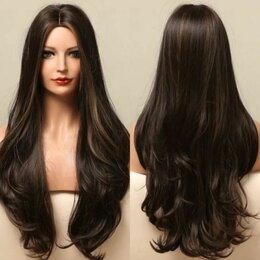 Аксессуары для волос - Парик волнистый длинный без челки с мелированием, 0