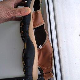 Сандалии - Мужские кожаные сандалии, 0