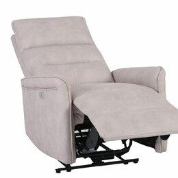 Кресла - Кресло с электрическим реклайнером dm02002 айвори, 0