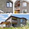 Фасадная плитка Hauberk Серо-Бежевый Кирпич 1000х250х3,3мм 2м2/уп по цене 1180₽ - Готовые строения, фото 2