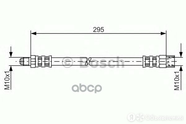 Шланг Тормозной Vovlo Xc90 295мм 02-10 Зад. Bosch арт. 1 987 481 015 по цене 600₽ - Тормозная система , фото 0