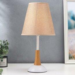Фильтры для вытяжек - Настольная лампа 'Светлана', 1х40Вт Е27, цвет бежевый, 0
