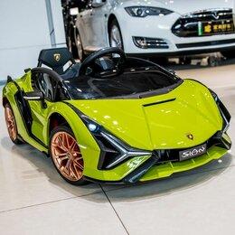 Электромобили - Детский электромобиль Lamborghini Sian -QLS-6388, 0