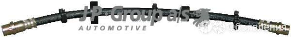 Шланг Тормозной Vw T5 (R16) M10x1x372 Пер.Прав. JP Group арт. 1161602180 по цене 400₽ - Тормозная система , фото 0