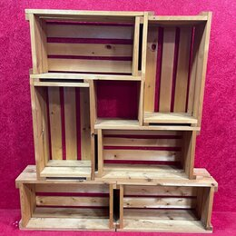 Стеллажи и этажерки - Стеллаж из деревянных ящиков, 0