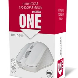 Мыши - Мышь проводная Smartbuy ONE 352 белая (SBM-352-WK) / 100, 0