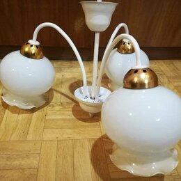 Люстры и потолочные светильники - Люстра потолочная/ светильник на 3 плафона, CCCР., 0