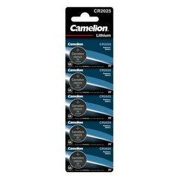 Батарейки - Элемент питания литиевый CR CR2025 BL-5 (блист.5шт) Camelion 1594, 0