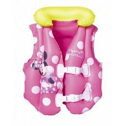 Спасательные жилеты и круги - Жилет надувной для плавания Minnie 51х46см 91070, 0