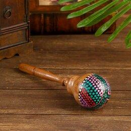 Щипковые инструменты - Музыкальный инструмент 'Маракас разноцветный' 27х7х7 см, 0