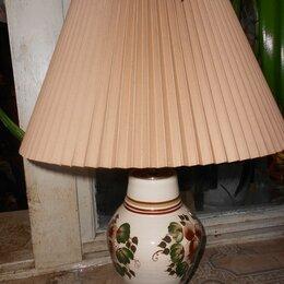 Настольные лампы и светильники - настольная лампа керамика с  абажуром, 0