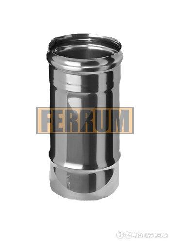 Труба-Дымоход (из нержавеющей стали 0,5 мм) ф120 х0,25м FeFLUES 30788 по цене 288₽ - Дымоходы, фото 0