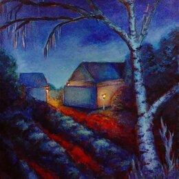 Картины, постеры, гобелены, панно - Ночной пейзаж, 0