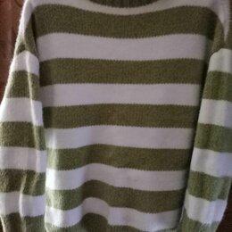 Свитеры и кардиганы - Вязаные свитера полосатые зеленые, 0