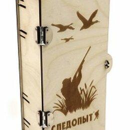 Подарочная упаковка - PF-PT-04 Коробка подарочная «СЛЕДОПЫТ» из фанеры, 120х80х240 мм/10/, 0