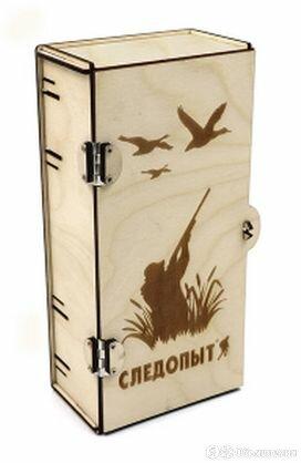 PF-PT-04 Коробка подарочная «СЛЕДОПЫТ» из фанеры, 120х80х240 мм/10/ по цене 168₽ - Расходные материалы, фото 0