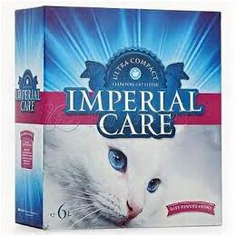 Наполнители для туалетов - Наполнитель IMPERIAL CARE комкующийся с ароматом детской пудры 6л , 0