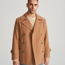Пальто - Бушлат Двубортное пальто с шерстью Новое, 0