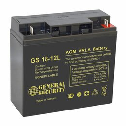Источники бесперебойного питания, сетевые фильтры - Аккумуляторная батарея АКБ GS 12/18 12B .18 ач, 0