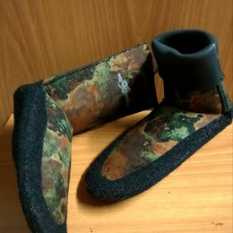Гидрообувь - Носки Aquadiscovery Camo Brown 5 мм. Новые ., 0