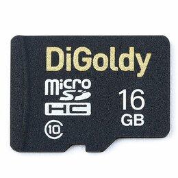 Карты памяти - Карта памяти MicroSD  16GB  DiGoldy Class 10 без адаптера, 0
