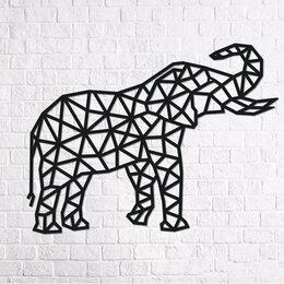 Пазлы - Деревянный интерьерный пазл «Design Слон», 0