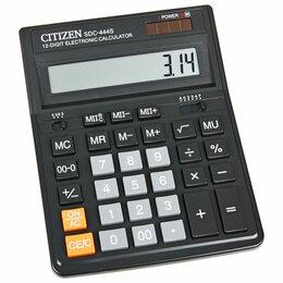 Калькуляторы - Калькулятор  настольный  CITIZEN  SDС-444S  12 раз., 153*199*31мм, двойное питан, 0