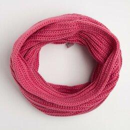 Аксессуары и принадлежности - Шарф-хомут детский, цвет розовый, размер 108х26, 0