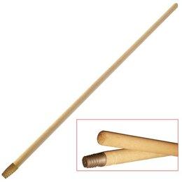 Черенки и ручки - Черенок для уборочного инвентаря 120 см,  деревянный, еврорезьба, универса..., 0