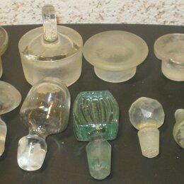 Этикетки, бутылки и пробки - Старинные пробки от графинов, пузырьков., 0